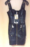MOSCHINO H&M H&MOSCHINO Kleid Leder Dress Leather EUR Größe 36 Size US 4 UK 8