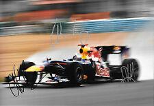 Vettel / Horner / Newey SIGNED 12x8, F1 Red Bull RB9 . F1 Test Jerez 2013