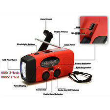 Emergency Solar Hand Self Powered AM/FM/NOAA Weather Radio LED Flashlight LI22