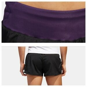 adidas Women's Run it Running Shorts Black/Purple XS, XL