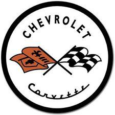 "Chevrolet 1953 Corvette 12"" Round Tin Sign Nostalgic Metal Sign Chevy Logo Decor"