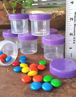 24 Plastic 1 ounce Party  favor Jars Container 30ml Purple Caps 4305 DecoJars