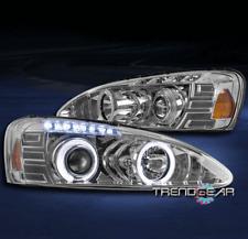 2004-2008 PONTIAC GRAND PRIX HALO LED PROJECTOR HEADLIGHTS LAMP CHROME 2006 2007