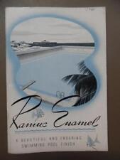 1941 Inertol Ramuc Enamel Swimming Pool Finish Paint Coating Catalog Vintage VG
