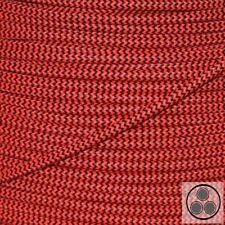 Textilkabel Stoffkabel Lampen-Kabel Stromkabe Neon Rot Zick-Zack 3adrig