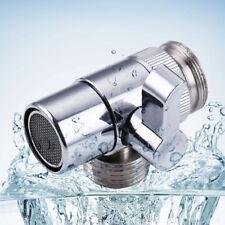 Polished Chrome Brass Sink Valve Diverter Faucet Splitter for Kitchen M22xM24