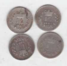 More details for 1838/1839/1843 & 1860 victoria silver three halfpences in well used conditon.