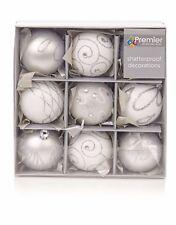 Premier decorations Árbol de Navidad 9 unidades 60 mm Inastillable bolas – Pl...