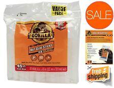 """Gorilla Hot Glue Sticks 4"""" Full Size Durable Strong Bonding for Metal Wood Glass"""