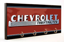 CHEVROLET THRIFTMASTER VINTAGE SIGN AUTO CAR WOOD 4 KEY HANGER HOLDER USA MADE
