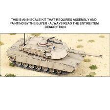 N SCALE: M1A2 ABRAMS MAIN BATTLE TANK KIT - GHQ KIT #58003