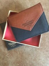 """""""Gentleman's Hardware"""" Mens Faux Leather & Canvas Bi-Fold Wallet Pre-Used Boxed"""
