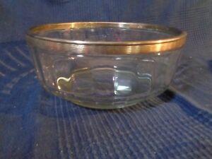 plat coupe saladier en verre et metal argente ancien style louis vintage