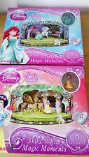 2 Boites  DISNEY PRINCESSE  Magic Moments Blanche Neige et Ariel