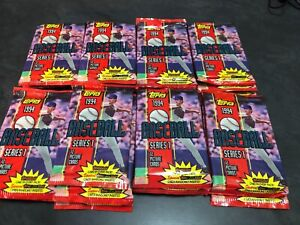 1994 Topps Baseball Unopened Pack Lot (28) Series 1 Factory Sealed Gold Inserts