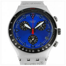 SWATCH IRONY TOXIN BLUE ALUMINIUM 1/10 CHRONOGRAPH SWISS MADE HERREN UHR YCS4004