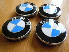 BMW 1 Series Models - 68mm Wheel Centre Caps - Blue and White