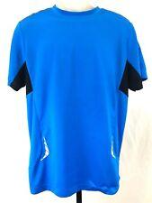 Fila Sport Mens Running Shirt  Medium Performance Athletic Apparel Blue Black