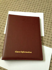 10 Guest Information Folder Room Service Hotel Guest House Burgandy Pvc A4 Size