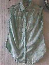 Denizen from Levi's Sleeveless Green Mix Blouse Top, Women Size M