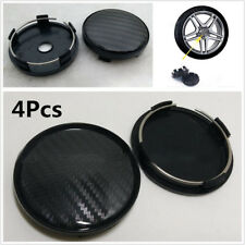 4Pcs 60mm/58mm Carbon Fiber Pattern Car Wheel Center Hub Caps Decorative Cover