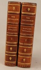 The Decameron of Giovanni Boccaccio by J. M Rigg 2 vol. 1921 leather bound