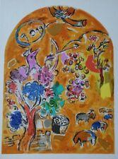"Marc Chagall Original 1962 Jerusalem Windows Lithograph + ""Tribe of Joseph"""