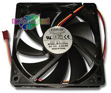 Everflow Quiet Case Fan 120mm x 25mm R121225BL 26dBA 3 Pin 1500RPM 2x Bearings