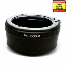 Anillo adaptador lentes Pentax-K a Canon EOS M