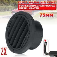 2x 75mm Diesel Heater Ducting Duct Warm Air Vent Outlet For Webasto Eberspacher
