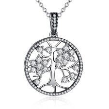 New Authentic S925 Sterling Silver Tree of life Pendant Necklace with 45cm Chain