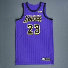 NBA Basketball Jersey LA Lakers Lebron James #23 City Edition Purple UK Seller
