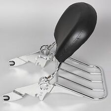 Chrome Detachable Backrest Sissy Bar + Luggage Rack For Harley Touring 09-18 New