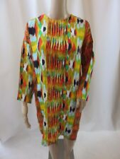 Celine Multi-Color Printed Long Sleeve Shift Dress Size IT 42 NWT