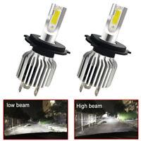 2Pcs 9003 H4 LED Headlights Bulbs Kit Upgrade High&Low Beam White Waterproof