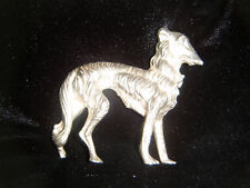 Pewter Borzoi dog ornament