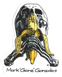 Blind Skateboards Heritage Skull Series Skateboard Sticker - Mark Gonz Gonzales