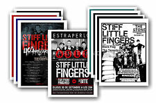 STIFF LITTLE FINGERS  - 10 promotional posters  collectable postcard set # 1