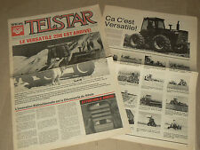 Journal TELSTAR Tracteur VERSATILE 256 Articulé  brochure prospectus tractor