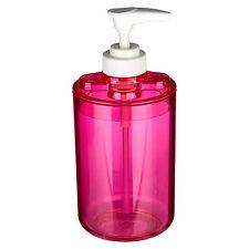 Loción Plástico Rosa Bomba Dispensador de Jabón Líquido Baño Almacenamiento de accesorios de baño