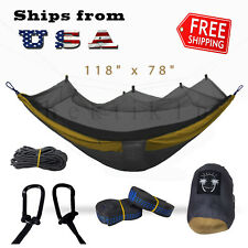 Portable Double Hammock with Mosquito Net for Outdoor Camping Traveling - XLarge