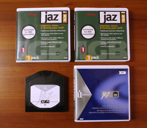 Iomega 1GB Jaz Disks - Used - Clean, with Cases - Lot of 3 - FREE SHIPPING!