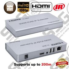 USB HDMI KVM Extender Over TCP/IP 200m CAT5e/6 Mouse & Keyboard Extension