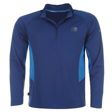 Mens Karrimor Running Breathable Quarter Zip Long Sleeved Top Size S M L XL XXL Black Large