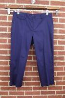 NEW Ralph Lauren Womens Crop Capri Pants Slacks Sz 16 Navy Blue NWT Slimming Fit