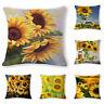 Sunflower 18inch Cotton Linen Throw Pillow Case Cushion Cover Sofa Home Decor