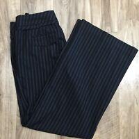 Ann Taylor Loft MARISA Dress Trousers Size 8 Wide Leg Skinny Belt Pants Slacks