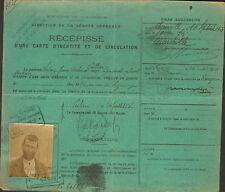 CERBERE ACIERIES FIRMINY RECEPISSE OUVRIER AGRICOLE ESPAGNOL JUAN LOPEZ 1918