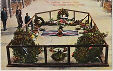 THE UNKNOWN WARRIOR'S GRAVE. WESTMINSTER ABBEY. LONDON Post card Postal Vintage.