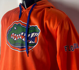 Florida Gators Hoodie Sweatshirt Big Logo Spellout Colosseum NCAA Swamp Sz L